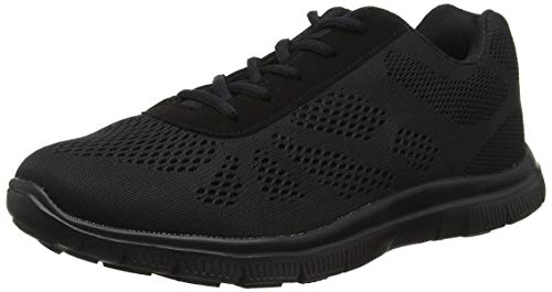 Mujer Get Fit Mesh Go Ejecutarning Atlético Caminar Zapatos Ejecutar - Negro/Negro - 37