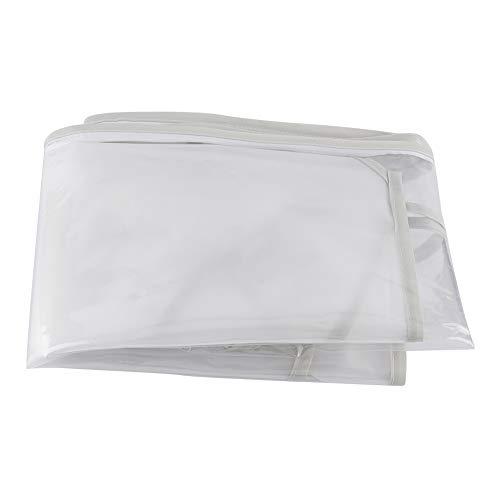 Asixxsix Protección contra la Intemperie, protección contra la Intemperie del Cochecito ventilado(EVA Double Open Zipper Bottom Rain Cover)
