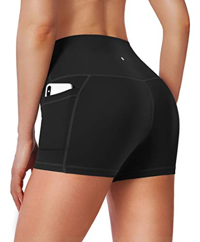 Women's High Waist Yoga Shorts with Side Pockets Tummy Control Running Gym Workout Biker Shorts for Women 8