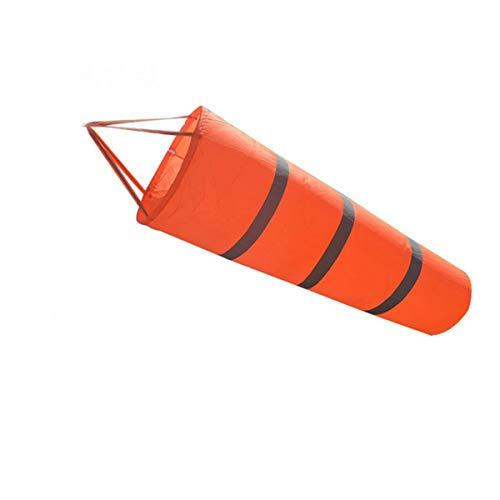 Grofitness Windsack, fluoreszierend, mit reflektierendem Gürtel, Windmessung, reißt nicht, 76,2cm/101,6cm/152,4cm/198,1cm