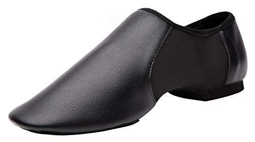 Elastic Leather Slip-On Jazz Dance Shoe for Women and Men