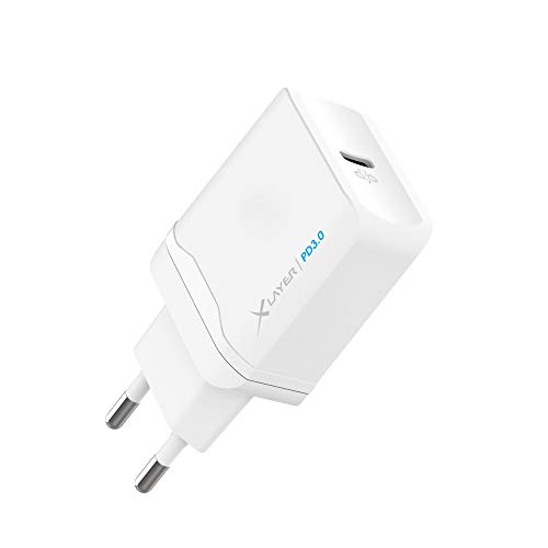 XLayer Ladegerät Type C Charger 18W PD Power Delivery 3.0 Fast Charge Quick Charge für iPhone XS / iPhone XS Max / iPhone XR, Samsung Galaxy S8/S8+/Note 8, Nexus 6P, Google Pixel XL, LG G5, Nintendo Switch usw. (Weiß)