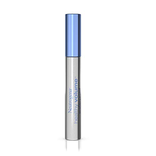 Neutrogena Healthy Volume Lash-Plumping Waterproof Mascara, Volumizing and Conditioning Mascara with Olive Oil to Build Fuller Lashes, Clump-, Smudge- & Flake-Free, Carbon Black 06, 0.21 oz