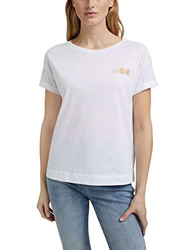 Esprit 041ee1k346 Camiseta, Blanco, XL para Mujer