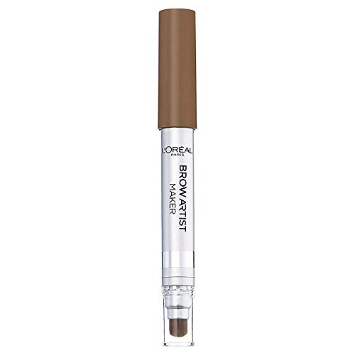 L'Oréal Paris Brow Artist Maker, 02 Cool Brunette - Augenbrauen-Stift mit Pinsel und innovativer...