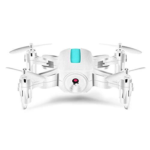 ZHCJH RC Mini Drone 720P Cámara HD, Control Remoto Plegable Quadrocopter WiFi FPV Micro Pocket RC Helicóptero Juguetes, 1080P Blanco