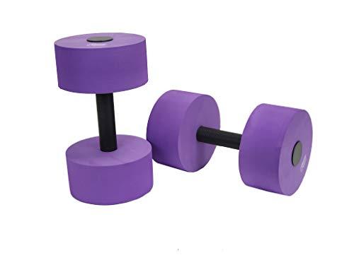 Sunlite Sports High-Density EVA-Foam Dumbbell Set, Water Weight, Soft Padded, Water Aerobics, Aqua Therapy, Pool Fitness, Water Exercise (Blue, Medium) (Medium Purple)