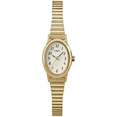 Timex Women's T21872 Cavatina Gold-Tone Stainless Steel Expansion Band Watch from Timex