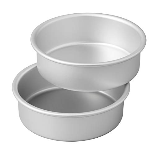 Wilton Small and Tall Aluminum 2 x 6-inch Layer Cake Pan Set, 2- Piece