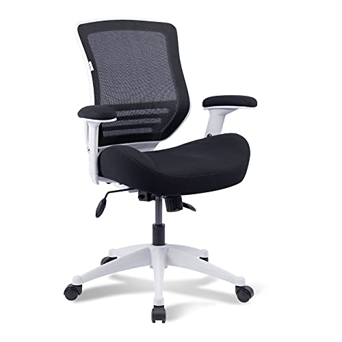 BOLISS Office Chair Ergonomic Desk Chair Computer Chair 400 lbs Capacity Height Adjusting Arm Up and Waist Support Function-Black