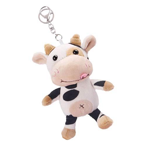 NLRHH Llavero de Juguete de Animales de Peluche, Mini Anillos de Llavero de Vaca rellena Suave para artesanías, Giveaway de Regalos de Kindergarten para niños niñas CD Kid 1pc Peng