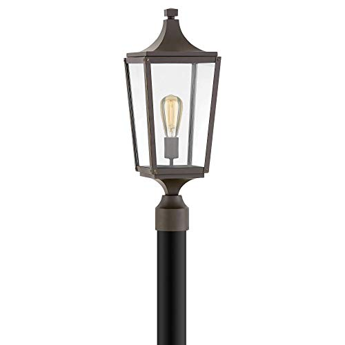 Hinkley 1291OZ Jaymes - One Light Outdoor Post Top/Pier Mount, Oil Rubbed Bronze Finish with Clear Glass