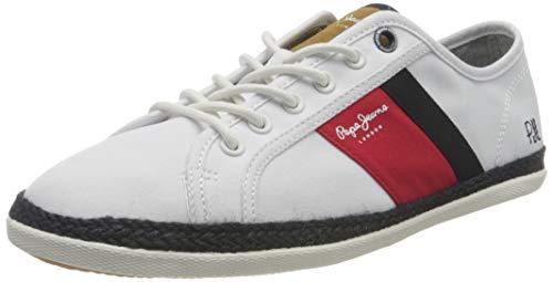 Pepe Jeans Maui Blucher, Zapatillas Hombre, 800 Blanco, 45 EU