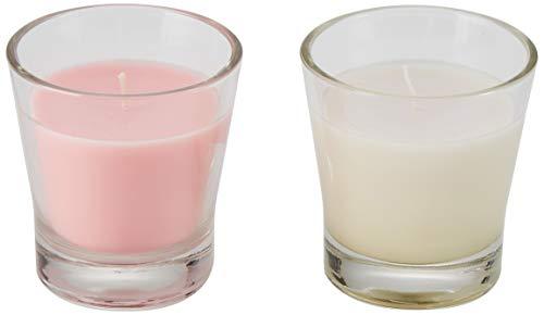 Marque Amazon - Presto! Bougies parfumées FLORAL GARDEN / FRESH LINEN , Medium - 6 Bougies