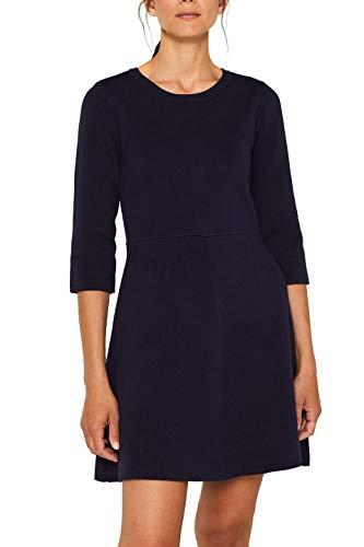 ESPRIT Damen 089Ee1E012 Kleid, Blau (Navy 400), Small (Herstellergröße: S)