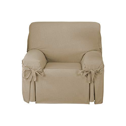 Martina Home Funda de sofá Lazos Turia 1 Plaza Camel