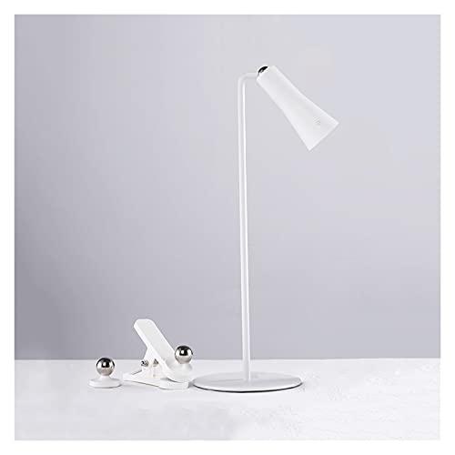 Lámpara de Escritorio Lámpara de Escritorio LED Multifuncional Recarga/Enchufe Dual Propósito Portátil Portátil Portátil Lámpara de 3 Niveles Brillo Ajustable Control Táctil Aprendizaje Luz de apren