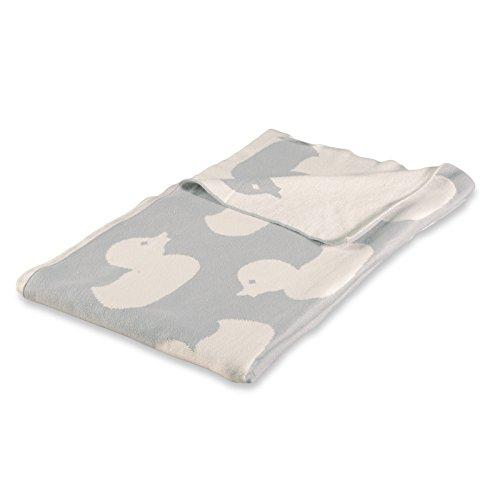 casa pura Kinderdecke Duck mit süßem Enten Motiv | schadstoffgeprüft | kuschelige Decke aus Baumwolle | Größe wählbar (100x120 cm) Baumwolldecke - Kuscheldecke