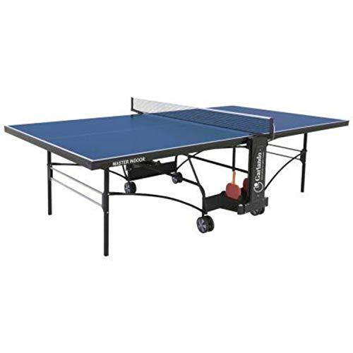 Garlando Tavolo da Ping Pong Master Indoor con Ruote per Interno Blu