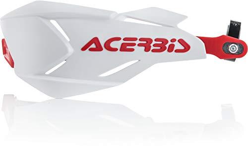 Acerbis 0022397.239 X-Factory Protège-mains Blanc/Rouge Taille Unique