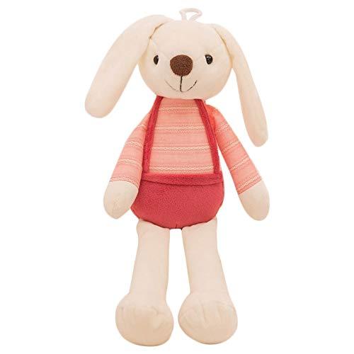 Cikuso 40Cm Simpatico Coniglietto Peluche Coniglio Giocattolo Morbido Panno Farcito Coniglio Regalo di Pasqua Decor Baby Placare Giocattoli per Bambini Bambini Nuovo Anno Regalo (Rosa)