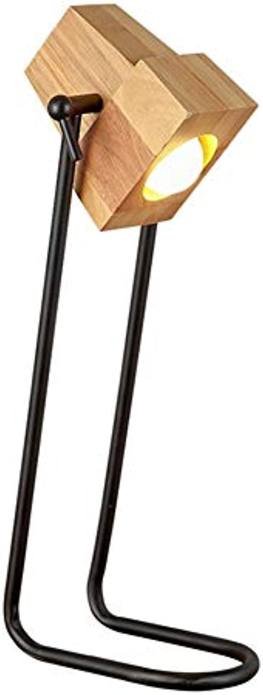 Eisen Tischlampe, Nordic LED Massivholz Schaukel Tischlampe Schlafzimmer Nachttischlampe Leselampe Kreative Amerikanischen Wohnzimmer Arbeitszimmer Dekoration Tischlampe Beleuchtung