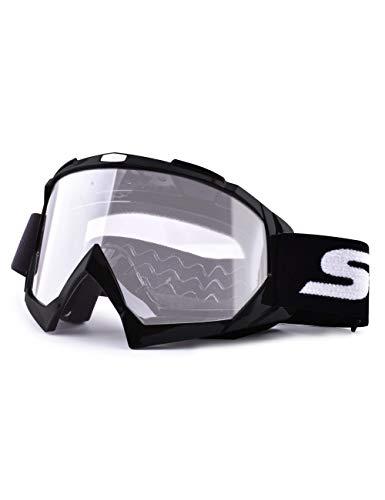 SGTTX Occhiali da moto, Motocross Occhiali di sicurezza anti UV Occhiali antivento antipolvere Dirt Bike ATV MX MTB Occhiali da moto antigraffio, per ciclismo Equitazione / arrampicata / sci