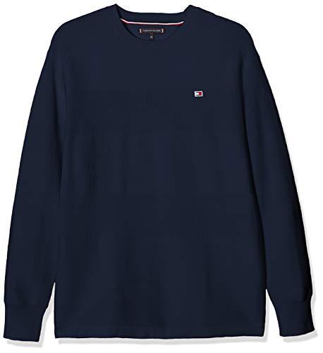 Tommy Hilfiger Jungen Tommy Flag Sweater Sweatshirt, Blau (Twilight Navy 654-860 C87), One Size (Herstellergröße: 86)