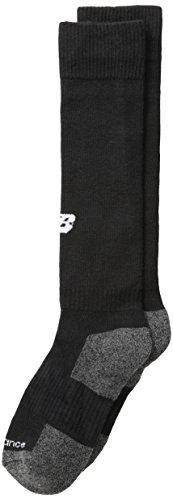 New Balance Kids Over The Calf for All Sports Socks 1 Pair, M 9-12.5 / W 10-12, Black
