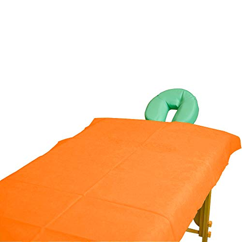Teqler Einmallaken für Untersuchungs-, Massageliegen und Massagebänke T-131042mango, 200 cm x 70 cm (100-er pack)