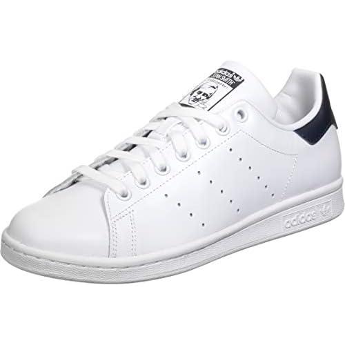 adidas Stan Smith W, Scarpe da Ginnastica Donna, Ftwr White/Ftwr White/Collegiate Navy, 37 1/3 EU