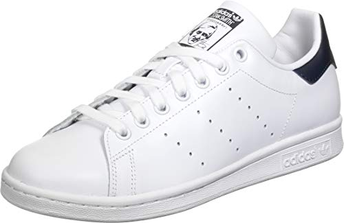 adidas Womens Stan Smith Sneaker, Weiß (Footwear White/Footwear White/Collegiate Navy 0), 37 1/3 EU