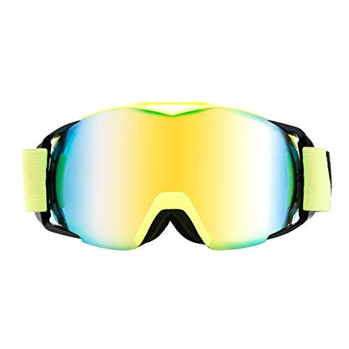 WZYU Gafas De Esqui, Protección UV Gafas, Material De Memoria, Doble Anti-Niebla Espejos, Buena Ventilación, Adecuado para La Mayoría Hombres Y Las Mujeres
