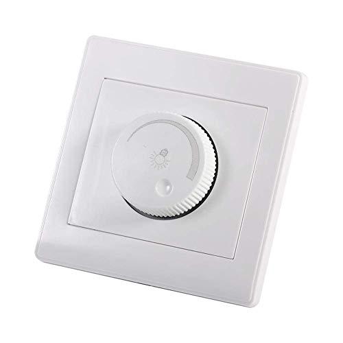 Regulador de intensidad Interruptor de atenuación de pared Interruptor de atenuación del panel de controlador de brillo de la lámpara giratoria de la pared