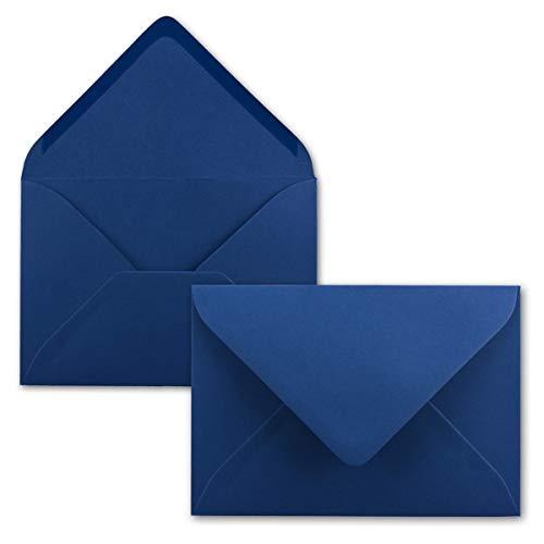 25 Mini Brief-Umschläge - Nachtblau/Dunkel-Blau - 5,2 x 7,6 cm - Miniatur Kuverts mit Nassklebung für Blumen-Grüße, Grußkarten, Anhänger & Geld-Geschenke - FarbenFroh by GUSTAV NEUSER