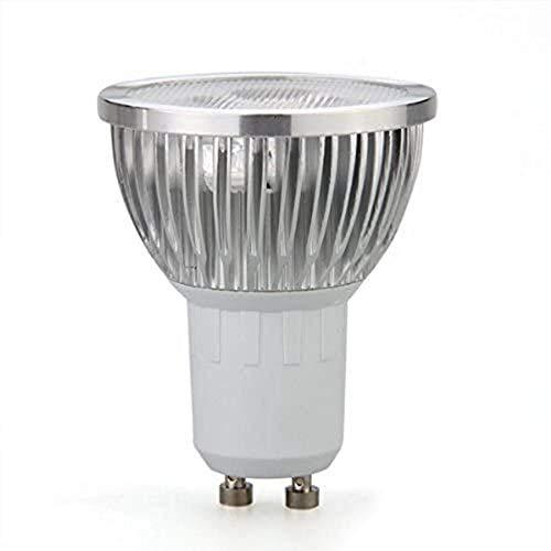 GU10 Blanco cálido 3 LED Regulable Foco de lámpara de luz Ahorro de energía 3W para Exteriores