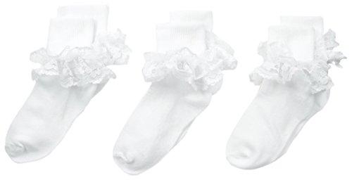 Jefferies Socks Big Girls Dressy Lace Socken (3 Stück) -  Weiß -  Medium