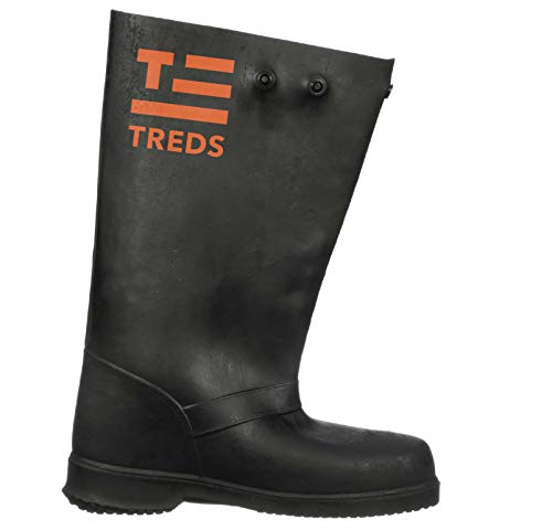 TREDS Super Tough 17' Pull-On Stretch Rubber Overboots for Rain, Slush, Snow and Construction, Size Large