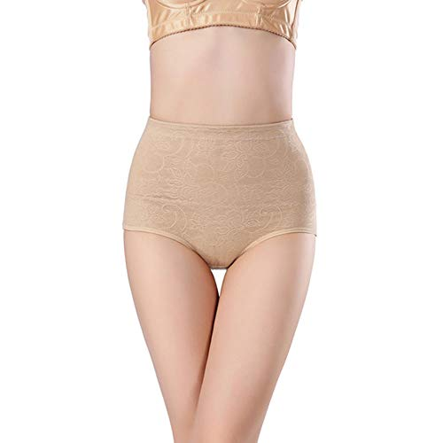 Shapewear Halfhoge, doorschijnende, lichaamsvormende broek Zwangere vrouw Postpartum Taille Afslankpak,Flesh,XL