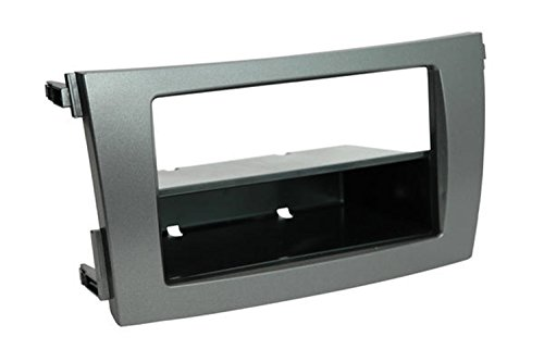 Scosche TA2101DGB Compatible with 2009-13 Toyota Corolla ISO Double DIN & DIN+Pocket Dash Kit, Dk. Gray