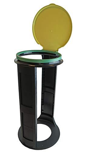 Gies Eco-Line Müllsackständer gelb Made in Germany 120 Liter - Robuste Qualität mit Umweltsiegel Blauer Engel - Für alle Arten von Müllsäcken - Blauer Engel für Haushalt, Camping, Gastronomie