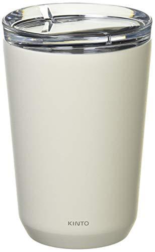 Kinto To-Go Trinkglas, 360 ml, φ86 x 128 mm, weiß, doppelwandig und vakuumisoliert, hält Ihr Lieblingsgetränk stundenlang warm oder kalt.