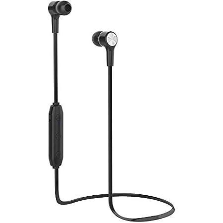 TBONEEY Audífonos Bluetooth, Audífonos Inalámbricos Impermeables IPX6, Auriculares Bluetooth 5.0 con Cancelación de Ruido para Deportes y Gimnasia, con Micrófono Incorporado(Negro)