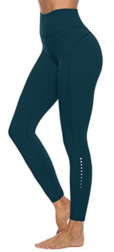 JOYSPELS Sporthose Damen, Leggings Damen Yogahose Sportleggins Lang Sportbekleidung, Dunkelgrün M