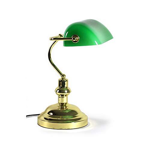lux.pro Bankerlampe 1 x E27 Schreibtischlampe Bibliothekslampe Tischlampe Grün