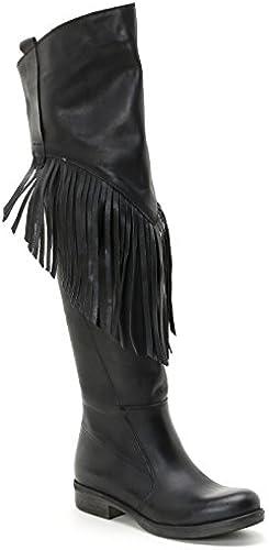Alesya by schuhe&schuhe - Overknee-Stiefel mit Fransen, Leder Leder Leder  Qualität zuerst Verbraucher zuerst