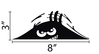 Funny Car Decal - Peeking Monster - Scary Eyes
