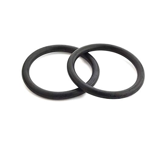 10/50pcs O Ring Seal Gasket Thickness 2mm Spacer Oil Resistance Washer, Black, Od 14Mm,2Mm X 50Pcs