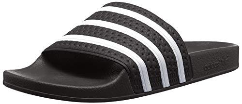 adidas Unisex-Erwachsene Originals ADILETTE Bade Sandalen, Schwarz (Black/White/Black), 44 1/2 EU
