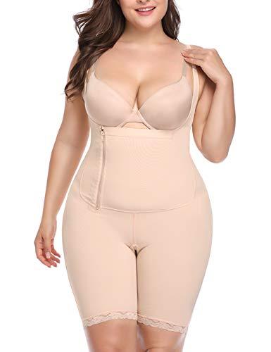 Women Full Body Shaper Tummy Control Seamless Slimming Shapewear Bodysuit Butt Lifter Slimmer Plus Size